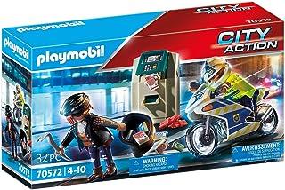 Playmobil Police Policier avec Moto et Voleur 70572
