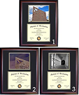 Cal State Poly Diploma Frame with photo and wood frame (Cherry, Walnut)