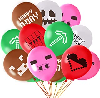 FEPITO 30Pcs Miner Party Balloons 12