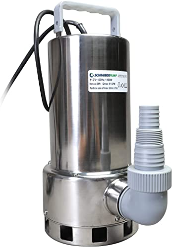 2021 Submersible popular Clean/Dirty Water Sump Pump 1.5HP w/water level sensor (4 ON/OFF positions, no external float switch) 4860GPH, 26'Head, Thermal Protector, Stainless Steel, wholesale Copper Winding - Schraiberpump outlet sale