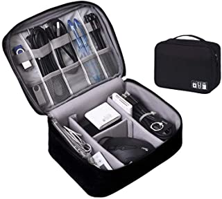 Electronics Organizer Case Digital Accessories Cable Organizer Bag Travel Cable Storage Bag Protects USB Drives, Memory Ca...
