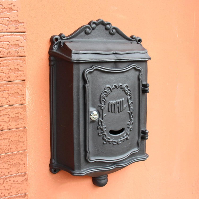 TLMY ヴィラレターボックス屋外フロントパネル鋳造アルミニウムステンレス屋外の新聞のボックスの壁掛けヨーロッパのメールボックスのポストボックスの壁のビンテージ メールボックス