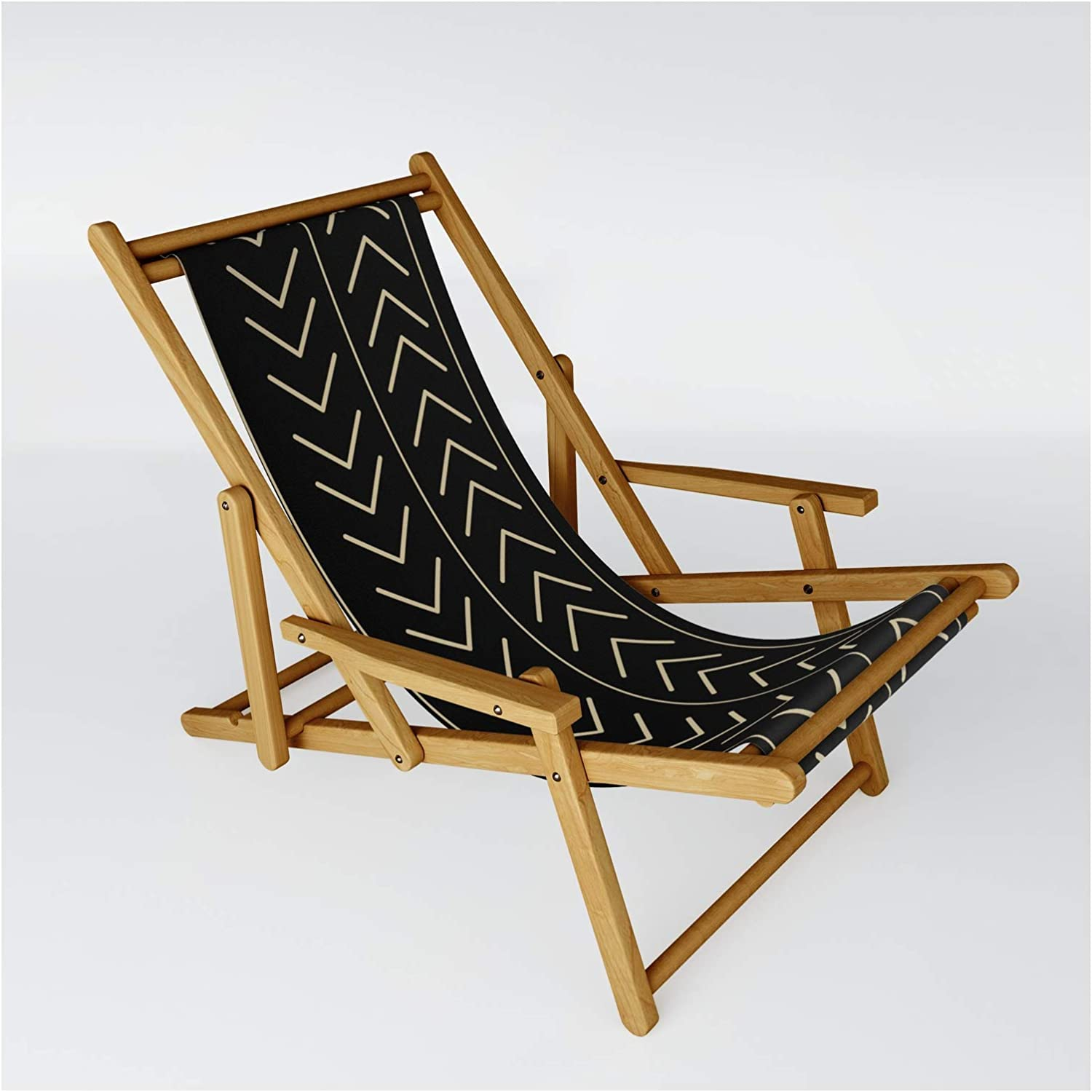 Society6 Mudcloth Black by Swati Bhatnagar excellence - One Sling Chair on Reservation