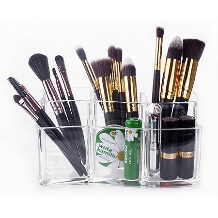 Czemo Organisateur de Maquillage Rangement en Acrylique cosmétiques Organisateur pour Pinceaux à Maquillage (2)