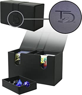 TopDeck 200 Card Dual Deck Box Pro | Leather Card Holder | 200 Cards & Dice Shelf | Pokemon/MTG/Yugioh | Dual Deck Compart...