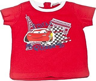 """Tee shirt bébé manches courtes Cars Disney baby """"Paris Mc queen"""" rouge 12mois"""