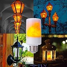 LED Flame Effect Bulb E26 Base Flicker Flame LED 3 Mode for Indoor Home DecorationCovered Porch Lights Landscape Lighting ...