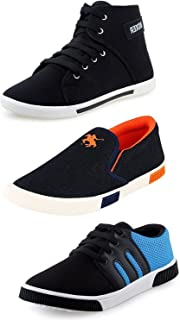 Bavis Men's Combo Pack of 3 Smart Sneakers & Loafers (Casual Shoes)
