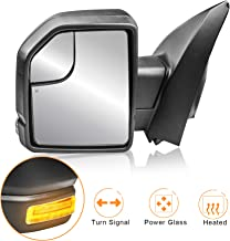 MOSTPLUS Left LH Driver side Power Heated Towing Mirrors for Ford F150 2015 2016 2017 w/Turn Signal 8-Pin Plug (Left Side Mirror)