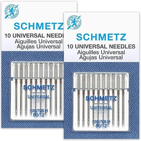 50 Schmetz Universal Sewing Machine Needles size/100//16 Box of 10 cards