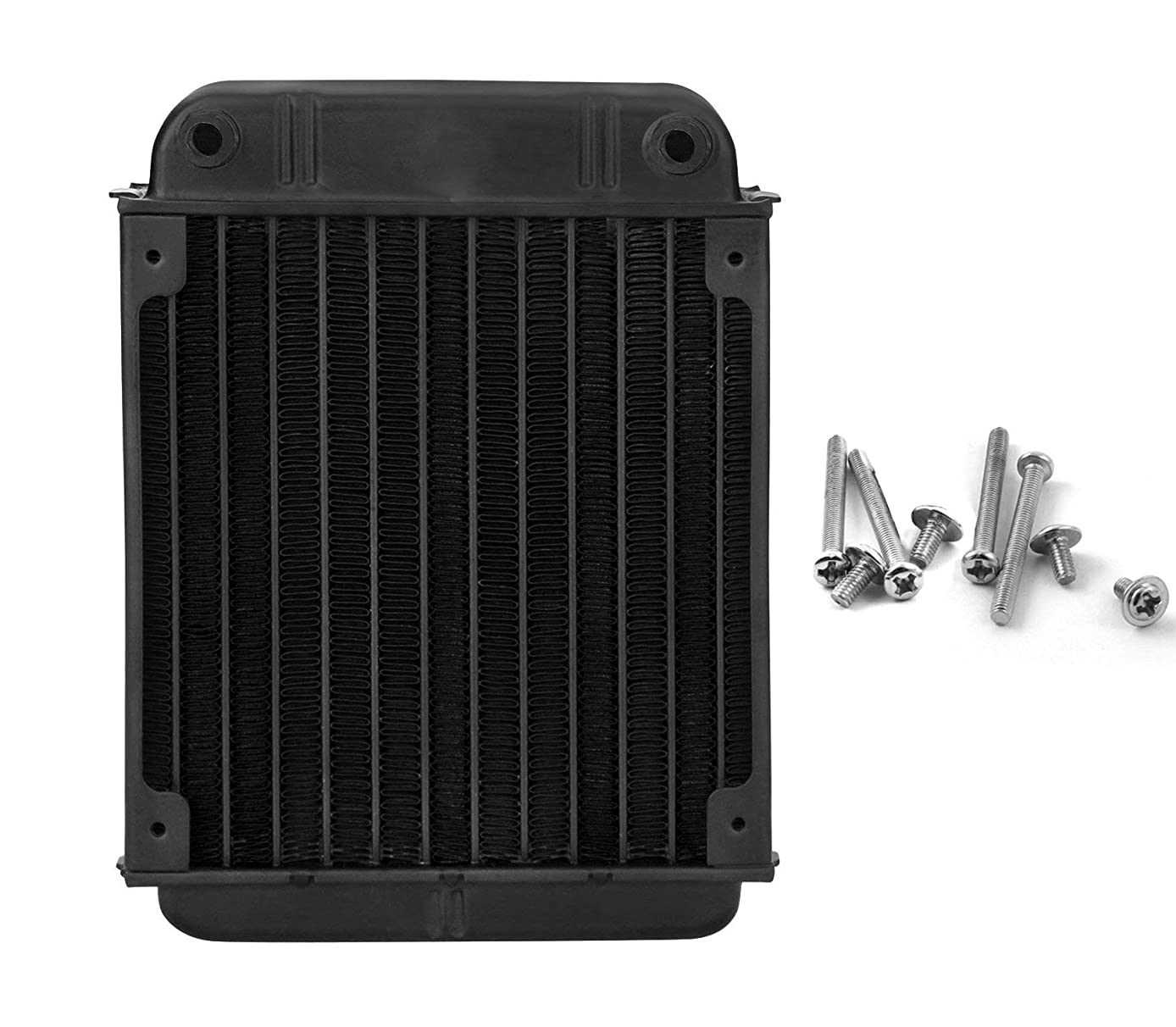 YXQ 12Pipes Computer Radiator Water Cooling Cooler Aluminum Heat Exchanger 6.22''x4.72'' for CPU Heat Sink