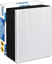 VEVA HEPA Filter with 6 Activated Carbon Pre Filters Compatible with 115115 Size 21 Filter A and WX Air Purifier P300, 530...
