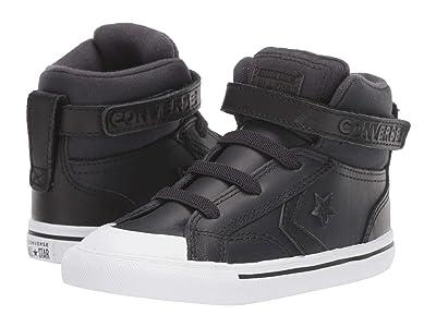 Converse Kids Pro Blaze Strap Martian Hi (Infant/Toddler) (Almost Black/Black/Mason) Boys Shoes