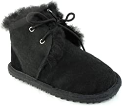 CooL BeanS Boys/Girls Sheepskin Winter Snow Boots, Genuine Leather/Fur (Baby/Toddler/Little Kids)