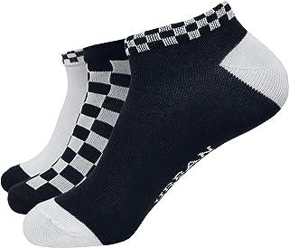 Urban Classics, Sneaker Checks 3-Pack Unisex Calcetines Negro-Blanco EU 35-38