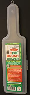 Paint Brush Holder Cover Plastic to Store 1/2 to 3 Inch Wet Brushes for More Than 30 Days from Design Innovative Products LLC, Superior Patented Design, Offers Air Tight Seal (1 Pack)