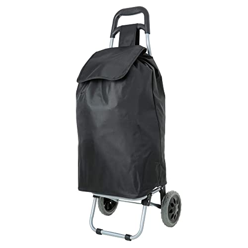 Eono Essentials Chariot de courses Pliable Léger 47 L (noir) Garantie 3 ans