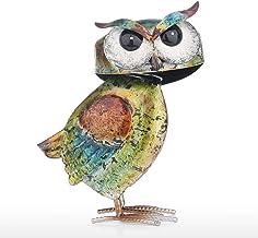 Tooarts Owl Sculpture Modern Iron Ornament Fun Art Decor Handmade Craft Shelf and Desk Decoration Home Decor Colorful Surface