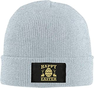 ASDGEGASFAS Unisex St Patricks Day Happy Skull Cap Knit Wool Beanie Hat Stretchy Solid Daily Wear