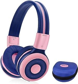 SIMOLIO Kids Headphones Bluetooth,15 Hrs Playing Wireless Foldable Headphone w/Mic and Volume Limited, Share Port, Hard EV...