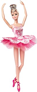 Barbie Signature Ballet Wishes Doll, approx. 12 in Wearing Tutu, Pointe Shoes and Tiara, for 6 Year Olds and Up GHT41, Mul...