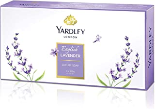 Yardley English Lavender Soap, Long lasting, rich and creamy lather, beautiful scented fragrance, lavender colour, 100 gm ...