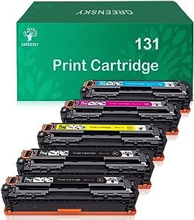 GREENSKY Compatible Toner Cartridge Replacement for Canon 131 131H MF624Cw MF628Cw LBP7110Cw MF8080Cw MF8280Cw LBP7110Cw (Black, Cyan, Yellow, Magenta, 5-Pack)