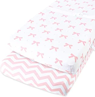 Cuddly Cubs Diaper Changing Table Pad Cover Set for Baby Girl | Soft & Breathable 100% Jersey Cotton | Adorable Unisex Pat...
