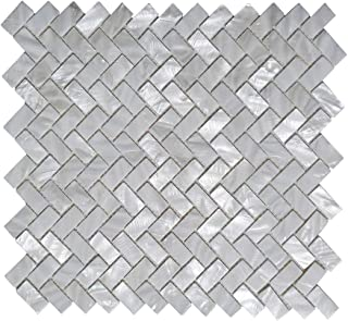 Art3d 6-Pack White Mother of Pearl MOP Shell Tile for Shower Wall, 12