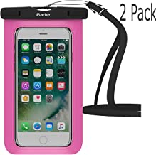 Waterproof Case,2 Pack iBarbe Universal Cell Phone Dry Bag Pouch Underwater Cover for Apple iPhone X 8 Plus 7 7 Plus 6S 6 6S Plus SE Samsung Galaxy Note s9 s s8 LUS S7 S6 Edge etc.to 5.7 inch,Rose