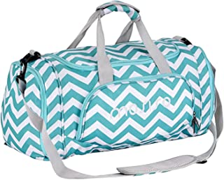 Mosiso Polyester Fabric Foldable Travel Luggage Multifunctional Duffels Lightweight Shoulder for Men/Ladies Gym Bags, Sports, Vacation, Chevron Hot Blue