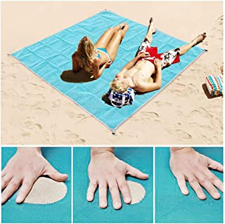 Lopie Sand Proof Blanket Sand Free Lightweight Compact Large Beach Towel Mat Fast Dry Waterproof Easy Clean Ultra Portable Blanket