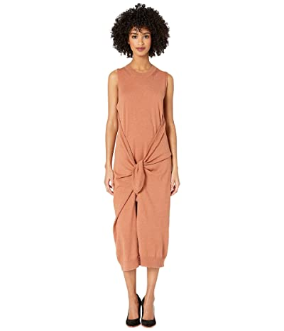See by Chloe Wrap Over Knit Dress (Smooth Brown) Women