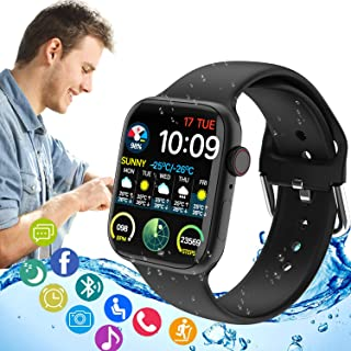 KITVTOPC Smart Watch (Receive/Make Call)1.75 '' Full Touch Screen Fitness Tracker with IP68 Waterproof Bluetooth Smartwatc...