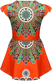 Women Zipper African Printing Sleeveless Deep V Neck Geometric Pattern Tunic Retro Classic T-Shirt Tops Blouse
