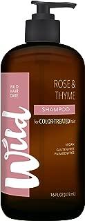Wild Shampoo for Color Treat Hair, Rose/Thyme, 16 Fluid Ounce