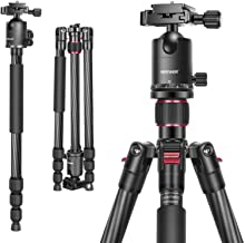 Neewer Carbon Fiber 66 inches/168 centimeters Camera Tripod Monopod with 360 Degree Ball Head,1/4 inch Quick Shoe Plate,Ba...