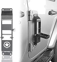 Hooke Road Bottle Opener Door Hinge Step, Door Pedal w/Star Sign for 2018-2019 Jeep Wrangler JL