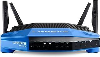 Linksys WR1900AC-EJ - Router inalámbrico Smart Wi-Fi de Doble Banda AC1900 (procesador 1.2 GHz, 4 Antenas, Puertos eSATA, USB 3.0 y USB 2.0, App de gestión de Red, Seguridad Avanzada) Azul y Negro
