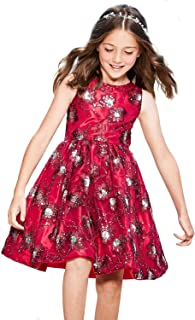 384c99af Chasing Fireflies Girls Dress Sparkly Flowers Tank Dress with Sequin,  Sleeveless Party Dress for Occasion