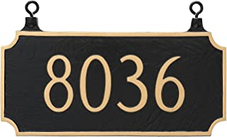 Montague Metal TSH-0005S1-H-WB Double Sided Hanging Princeton Address Sign Plaque, 7.25