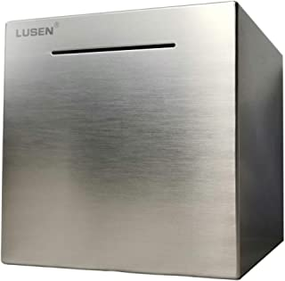 LUSEN Safe Piggy Bank Made of Stainless Stell,Safe Box Money Savings Bank for Kids,Can..