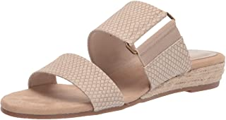 Easy Street Women's Wedge Sandal, Beige Snake, 8.5