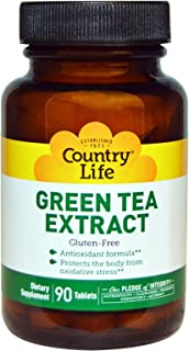 Country Life Green Tea Extract, 90 Tablets