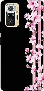 SharpEseller Pink Flowers Multi Coloured Silicone Back Cover for Mi Redmi Note 10 Pro   Mi Redmi Note 10 Pro Max