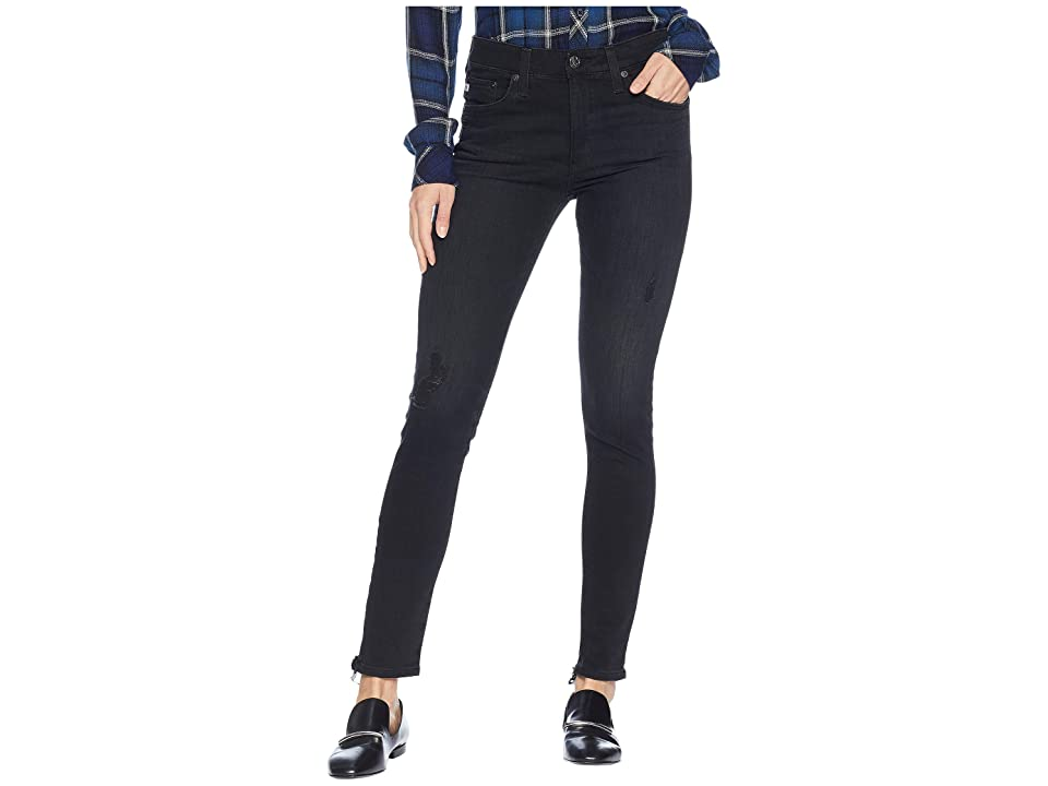 AG Adriano Goldschmied Farrah Skinny Ankle in 3 Years Black Cafe (3 Years Black Cafe) Women's Jeans