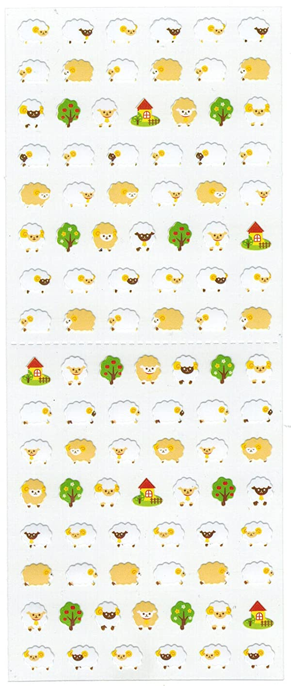 [DECO FAIRY] White Little Sheep in Different Poses Stickers (106 Stickers)