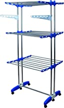 Mega Stainless Steel, 3 Tier, Movable & Foldable Cloth Drying Stand