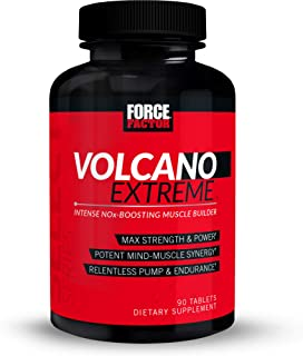 VolcaNO Extreme Pre Workout Nitric Oxide Booster Supplement for Men with Creatine, L-Citrulline, and Huperzine A for Bette...
