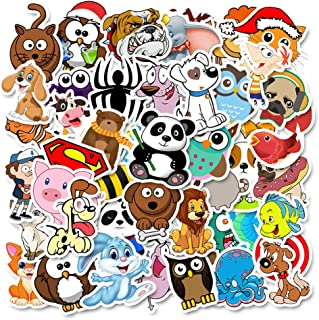 iMapo Cartoon Stickers, 50 Pcs Cute Animals Sticker for Water Bottle Laptop Motorcycle Skateboard Anime Stickers Decals, Gift for Toddlers Children Teen (50 Pcs Funny Animals)